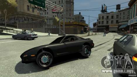 Mazda RX7 1995 Black [EPM] para GTA 4 vista superior