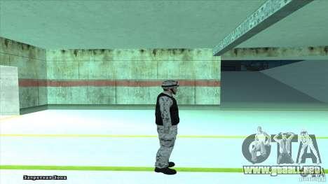 Army Soldier v2 para GTA San Andreas sucesivamente de pantalla