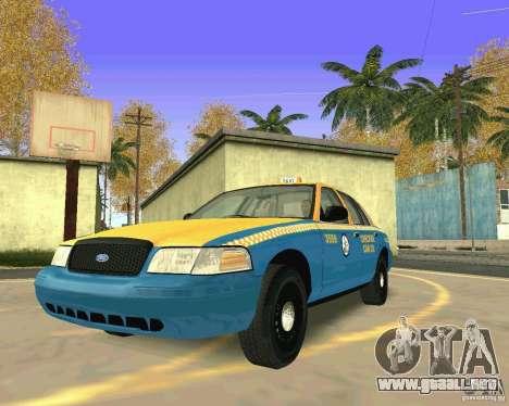 Ford Crown Victoria 2003 Taxi Cab para GTA San Andreas vista hacia atrás