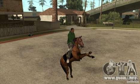 Caballo para GTA San Andreas sucesivamente de pantalla