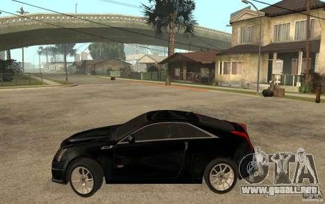 Cadillac CTS V Coupe 2011 para GTA San Andreas left