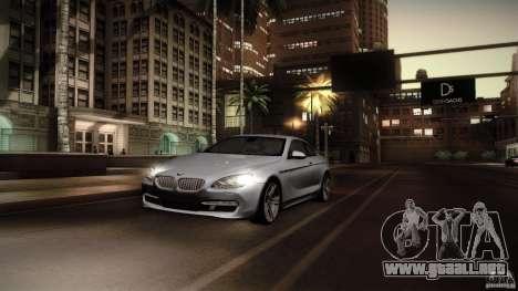 BMW 640i Coupe para GTA San Andreas vista hacia atrás