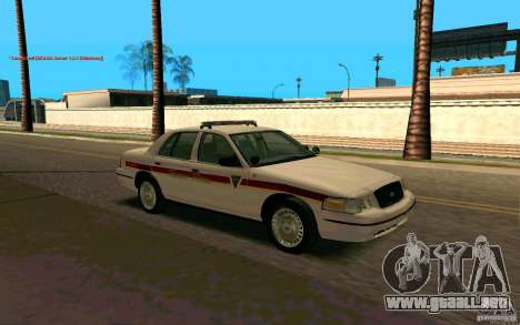 Ford Crown Victoria South Dakota Police para la visión correcta GTA San Andreas