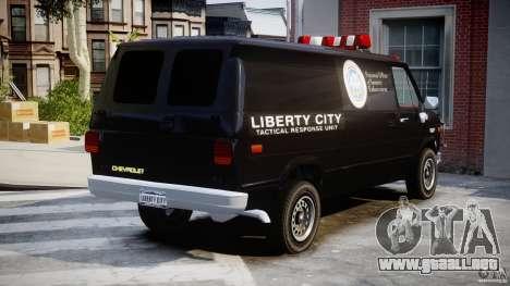 Chevrolet G20 Van V1.1 para GTA 4 vista interior