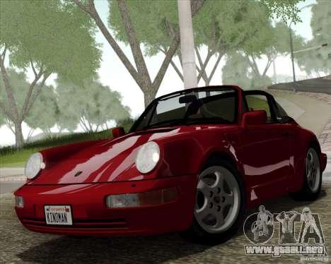 Porsche 911 Carrera 4 Targa (964) 1989 para visión interna GTA San Andreas