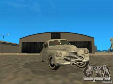 GAZ M20 Pobeda 1949 para vista lateral GTA San Andreas