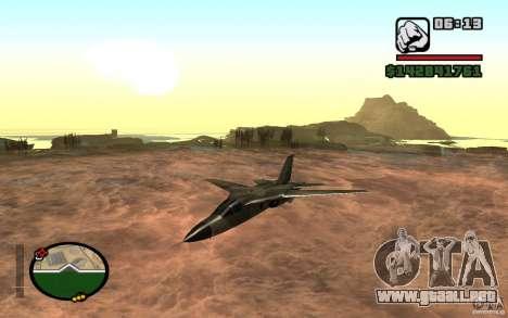 F-111 Aardvark para GTA San Andreas left