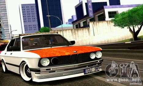 BMW E28 525e RatStyle No1 para GTA San Andreas vista posterior izquierda