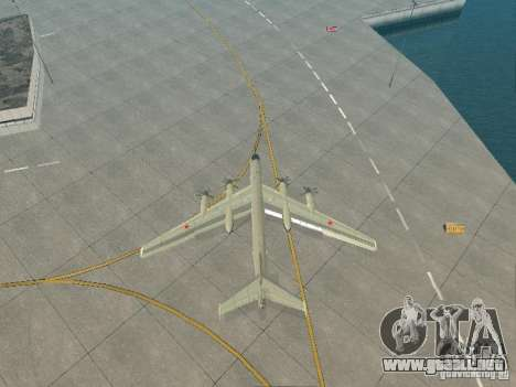 Tu-95 para GTA San Andreas vista hacia atrás