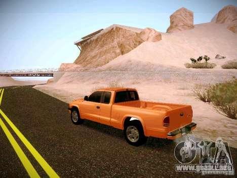 Dodge Ram 1500 Dacota para GTA San Andreas vista posterior izquierda