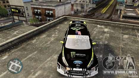 Ken Block Ford Fiesta 2011 para GTA 4 visión correcta