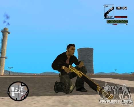 Shotgun Gold para GTA San Andreas