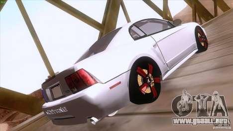 Ford Mustang GT 1999 para vista lateral GTA San Andreas