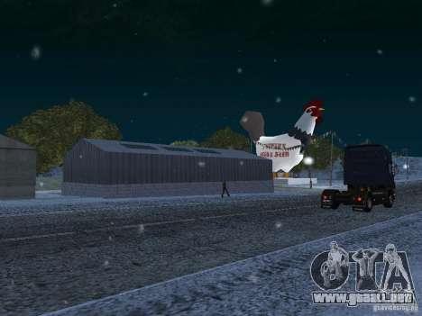 Nieve para GTA San Andreas quinta pantalla