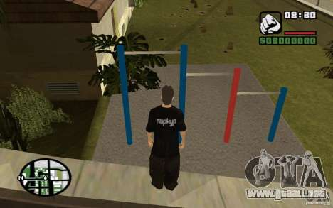 Barras horizontales para GTA San Andreas segunda pantalla