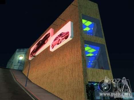 Nuevo showroom en San Fiero para GTA San Andreas segunda pantalla