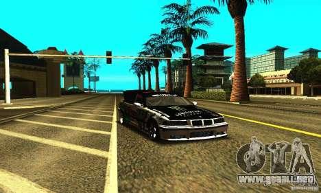 BMW E36 Drift para vista lateral GTA San Andreas