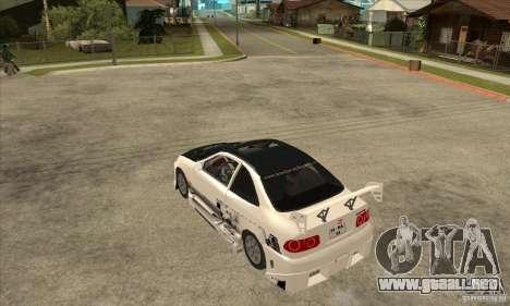 Honda Civic Tuning Tunable para GTA San Andreas vista hacia atrás