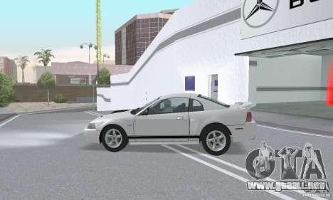 Ford Mustang GT 2003 para vista lateral GTA San Andreas