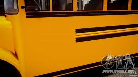 School Bus [Beta] para GTA 4 vista hacia atrás