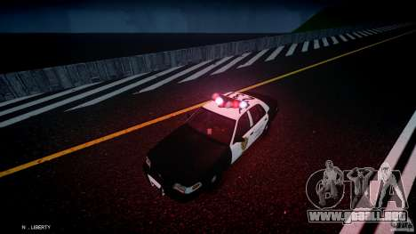 Ford Crown Victoria Raccoon City Police Car para GTA 4 vista desde abajo