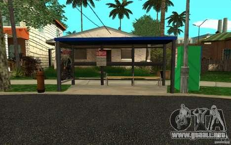 Nueva parada de autobús para GTA San Andreas sucesivamente de pantalla