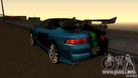 Toyota MR2 Drift para GTA San Andreas vista posterior izquierda