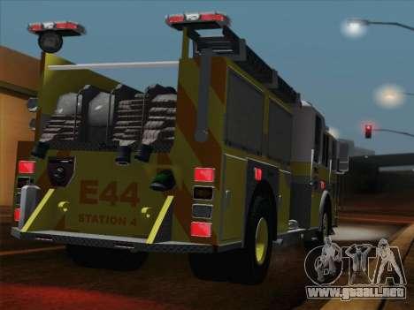 Seagrave Marauder II BCFD Engine 44 para la visión correcta GTA San Andreas