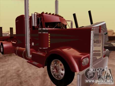 Kenworth W 900 1974 Custom para GTA San Andreas left