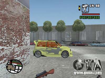 1111 OKA (tuning) para la vista superior GTA San Andreas