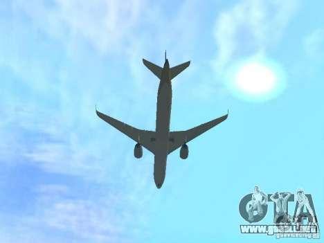 Airbus A350-900 Singapore Airlines para GTA San Andreas vista hacia atrás
