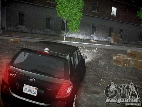 Kia Ceed para GTA 4 vista hacia atrás