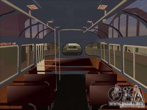 PAZ 672 para GTA San Andreas vista hacia atrás
