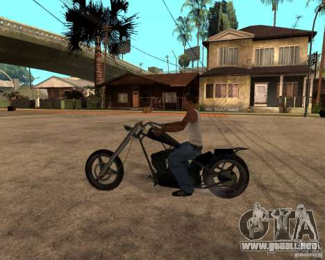 Diabolus Bike para GTA San Andreas vista posterior izquierda