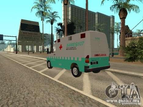 Mercedes Benz Sprinter SAME para GTA San Andreas left