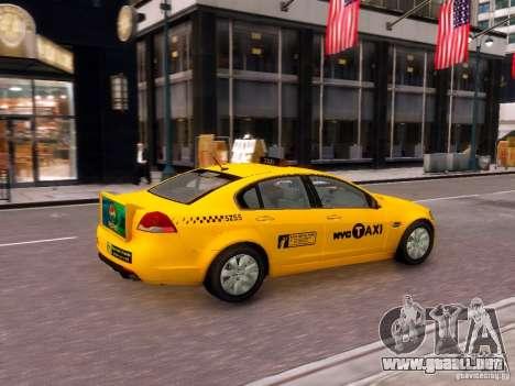 Holden NYC Taxi V.3.0 para GTA 4 visión correcta