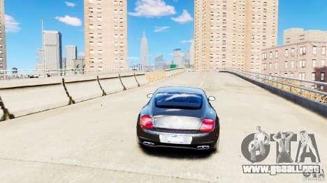 Bentley Continental SuperSports v2.5 para GTA 4 vista hacia atrás