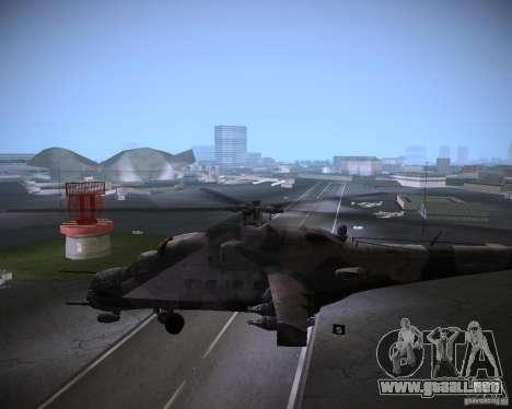 Mi-35 para GTA Vice City vista posterior