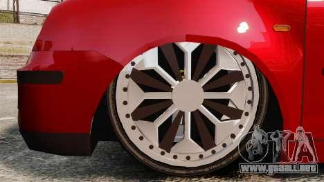 Volkswagen Polo Edit para GTA 4 vista hacia atrás