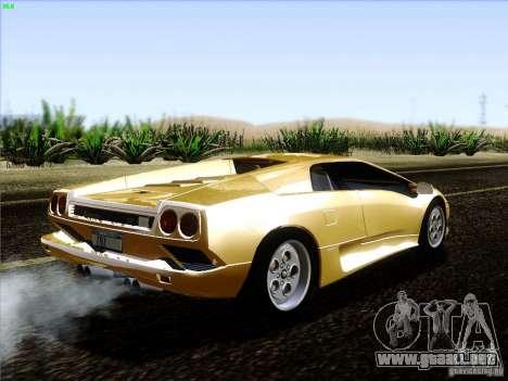 Lamborghini Diablo VT 1995 V3.0 para la visión correcta GTA San Andreas