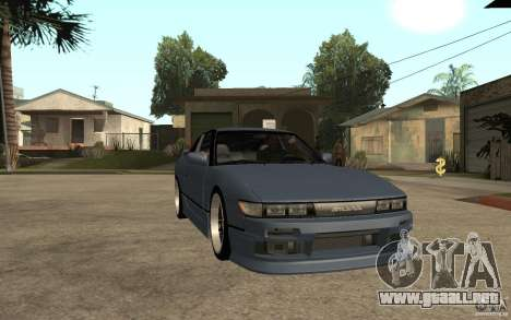 Nissan Silvia80 - EMzone Edition para GTA San Andreas vista hacia atrás