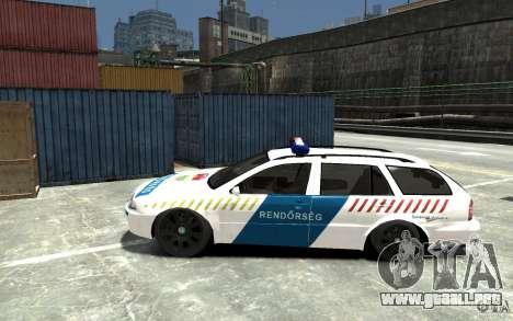 Skoda Octavia Kombi 2005 Hungarian Police para GTA 4 left