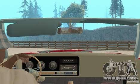 Pontiac GTO The Judge Cabriolet para visión interna GTA San Andreas