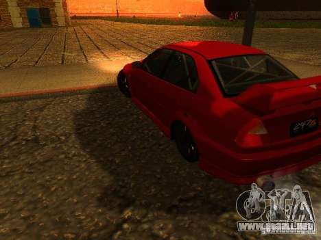 Mitsubishi Lancer Evolution VI GSR 1999 para GTA San Andreas left