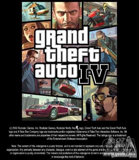 Imágenes de arranque en el estilo del GTA IV para GTA San Andreas
