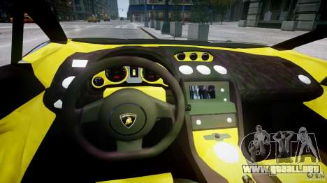 Lamborghini Gallardo para GTA 4 vista hacia atrás