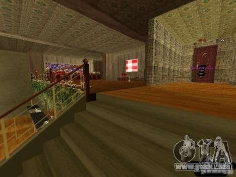 Bistro de Marco interior nuevo para GTA San Andreas sucesivamente de pantalla