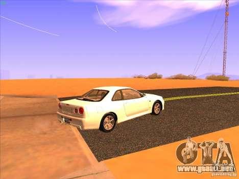 Nissan Skyline R34 Tunable para la visión correcta GTA San Andreas