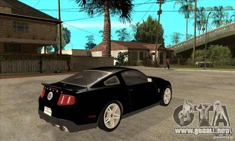 Ford Shelby GT 500 2010 para la visión correcta GTA San Andreas