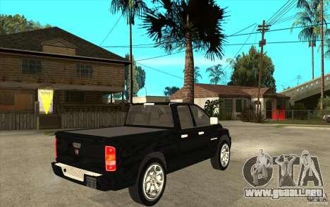 Dodge Ram 2500 2008 para la visión correcta GTA San Andreas